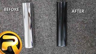 How to Spray Paint Chrome Black