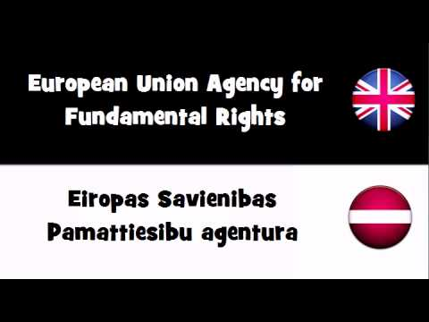 Say it in 20 languages # European Union Agency for Fundamental Rights