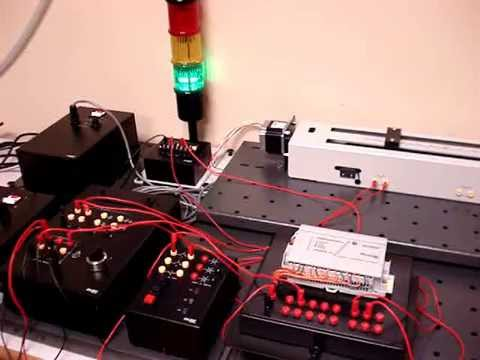Plc stepper motor application by lab volt youtube for How to program stepper motor with plc