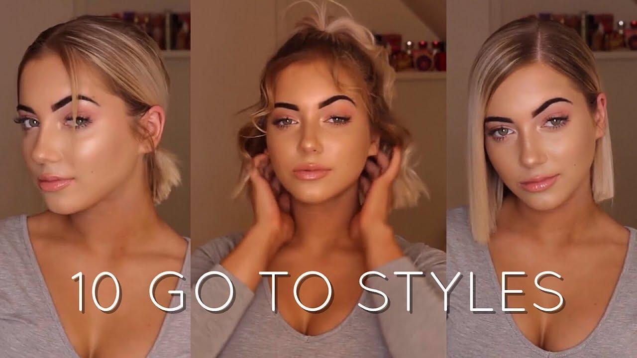 How I Style My Short Hair Katherine Rose Youtube