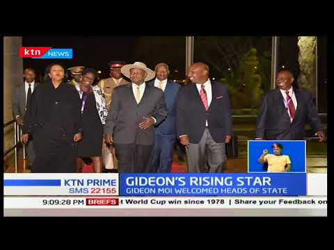 What does Baringo Senator Gideon Moi's welcoming heads of state ahead of inauguration mean