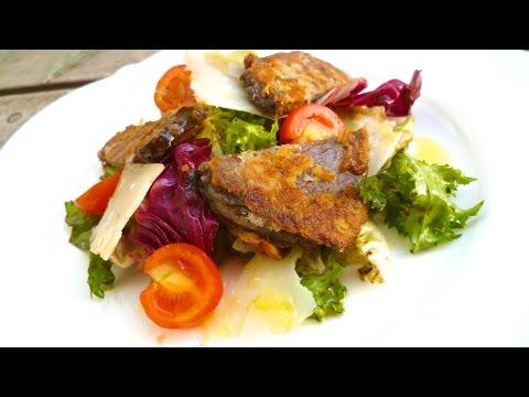 Senffleisch auf buntem Blattsalat, Rindfleischsalat vom Chefkoch Thomas Sixt lecker selber kochen