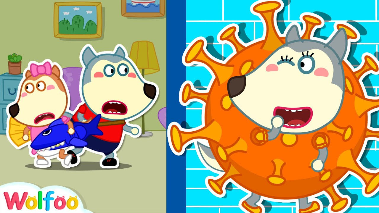 Wolfoo Plays Hide and Seek with Virus Costumes | Wolfoo Family Kids Cartoon