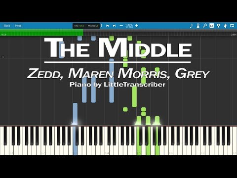 Zedd, Maren Morris, Grey - The Middle (Piano Cover) by LittleTranscriber