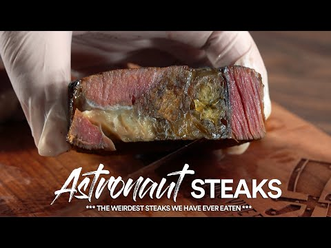 We tried Astronaut Steaks, So Insane | SpaceX Food!