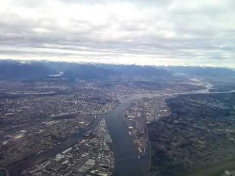 My First Time Plane Journey From Vancouver To Saskatoon By Air Canada