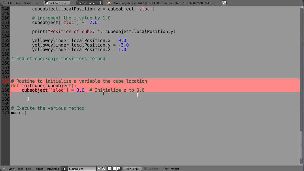 Blender Tutorial - Python Game Engine Programming - Part 17 - YouTube