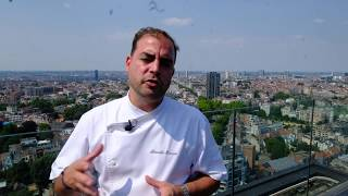Presentation of Villa in the Sky in Brussels, the highest 2 Michelin star restaurant in Belgium