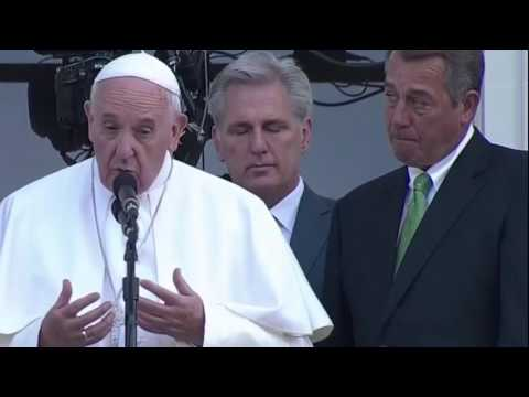 John Boehner is touched by Pope Francis's words
