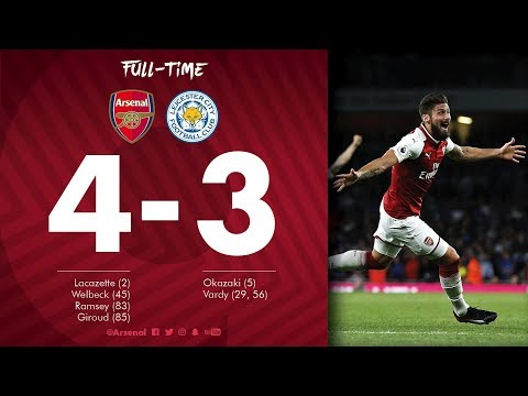 ARSENAL 4-3 LEICESTER CITY IMMEDIATE REACTION