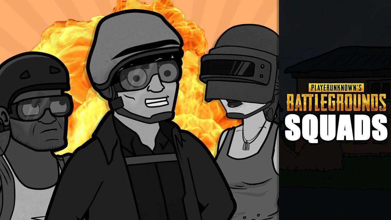 PLAYERUNKNOWN'S BATTLEGROUNDS Cartoon: Squads
