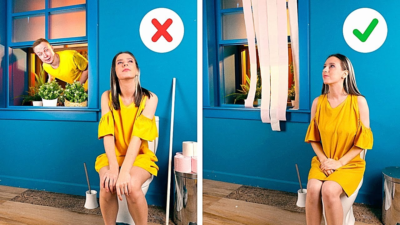 RESTROOM HACKS to SAVE YOUR DAY || Cool Bathroom Crafts