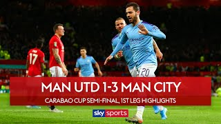 City win at United to take control of semi-final | Man Utd 1-3 Man City | Carabao Cup Highlights