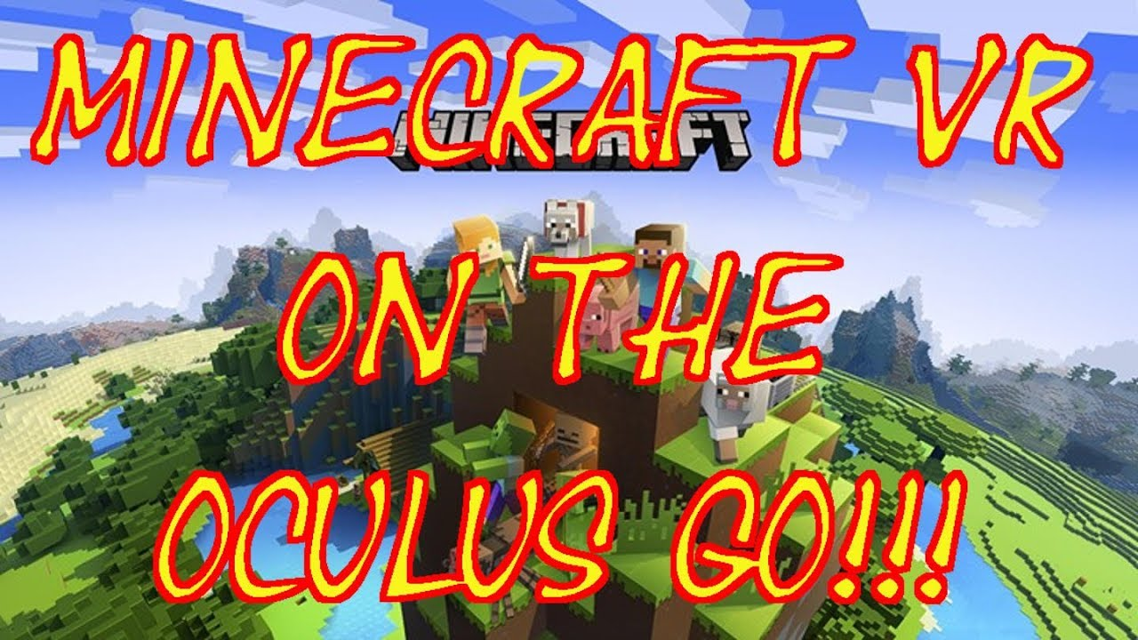 Minecraft VR in 3D on the Oculus Go!!!