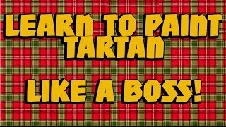 tutorial how to paint tartan good for warhammer heroes