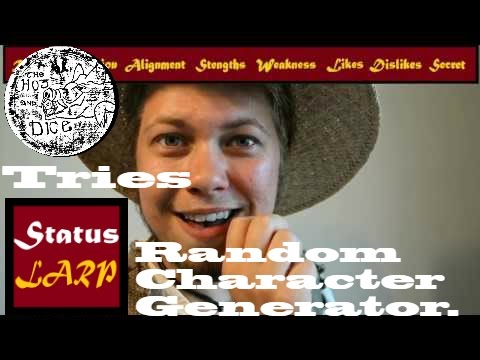 Hog Tries the Status: LARP Random Character Generator
