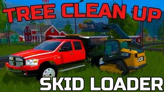 FARMING SIMULATOR 2015 | STORM CLEAN UP | JCB SKID LOADER | DUMP TRUCK