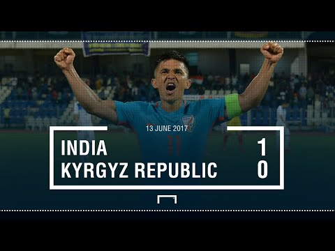 INDIA VS KYRGYZ REPUBLIC (1-0) |AFC CUP QUALIFIERS HIGHLIGHTS HD | SUNIL CHETTRI'S AMAZING GOAL|