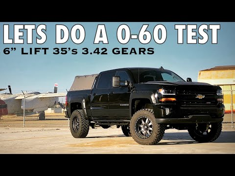 2017 Silverado Z71 4x4 0-60 Run - Let's See What This PIG got with stock gears