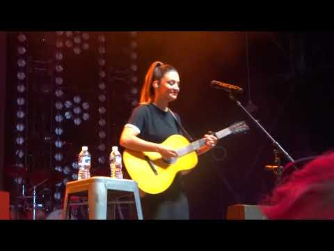 Natalie Hemby sings a medley of Little Big Town and Miranda Lambert songs on the Bandwagon Tour