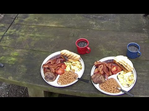 Camping and a Traditional English Full Breakfast