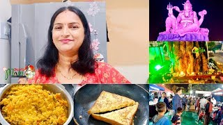 Indian Mom morning to afternoon routine // bread omlet // tomato pulao