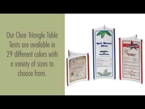 Table Tents And Stands For Restaurants And Cafes By Creative - Table tent stands