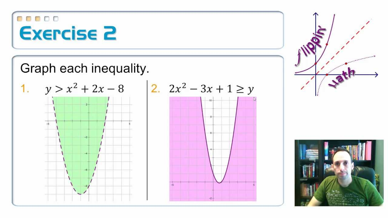 4.9: Graph and Solve Quadratic Inequalities, 1 - YouTube