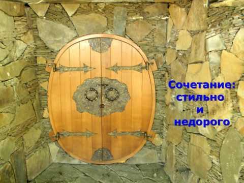Красивая дверь на погреб в частном доме, вход в винный погреб, как сделать дверь, дизайн бочка