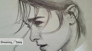 연필인물드로잉/ pencil drawing/ How t…