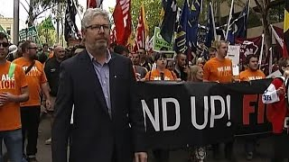 Trade Unions March In Protest - ABC 24