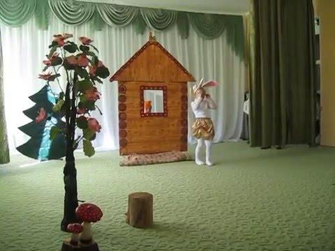 Театральная постановка сказки Лиса, заяц и петух средняя группа Капелька