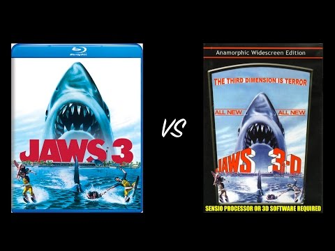 ▶ Comparison of Jaws 3-D 2K Remastered Blu-Ray Edition vs Jaws 3-D SENSIO DVD Edition