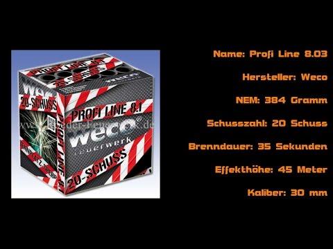 Weco 'Profi Line 8.03' || Profi-Feuerwerks-Batterie || Röder Testschießen