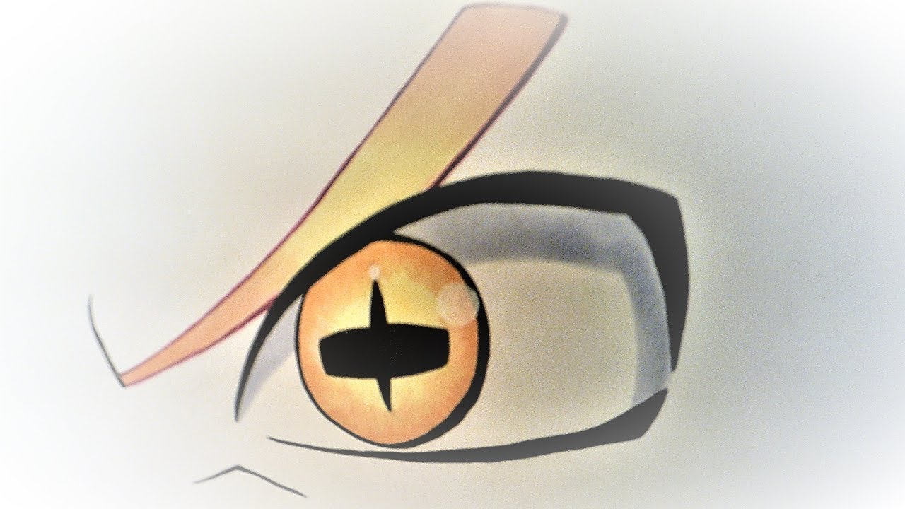 Naruto Modo Sabio De Los 6 Caminos Para Colorear: Dibujando El Ojo De Naruto En Su Modo Sabio De Los Seis