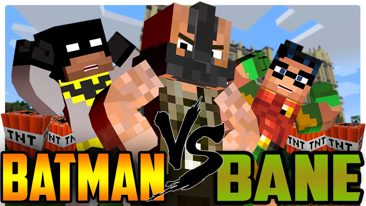 Minecraft Batman And Robin Vs Bane YouTube