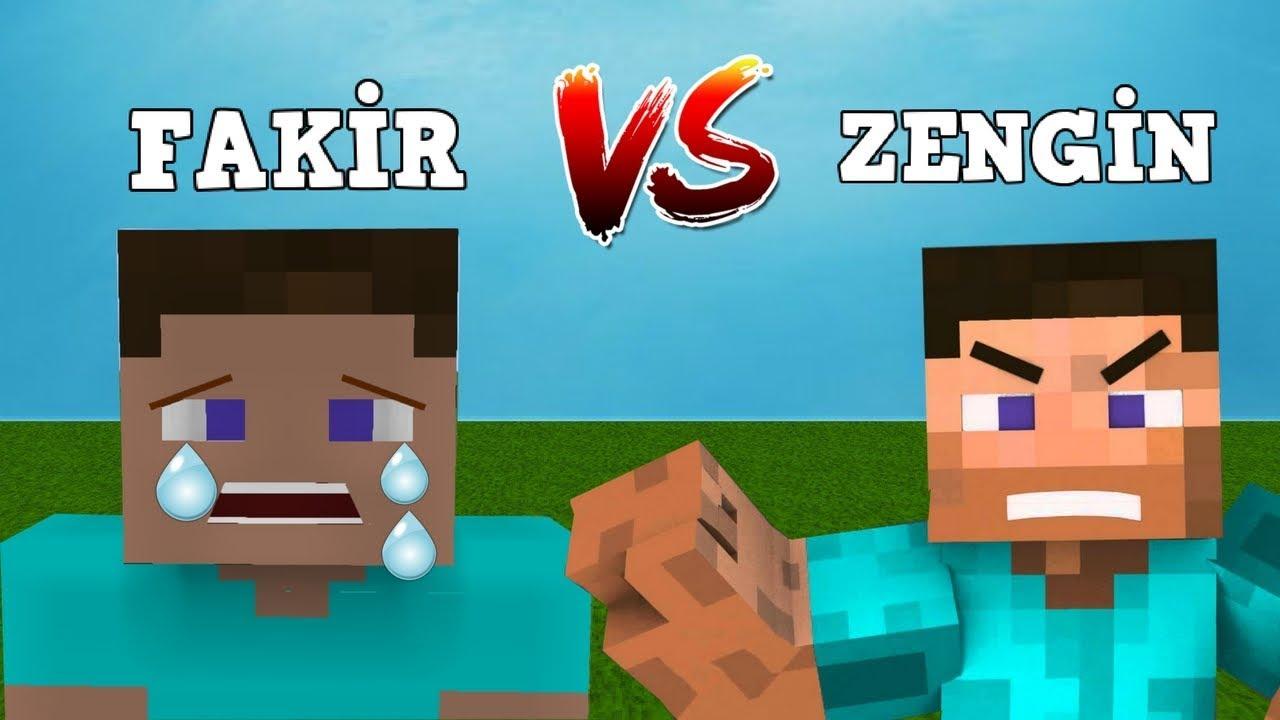Zengin Vs Fakir Hayati 28 Minecraft Dizisi Youtube