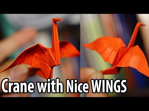 Easy Origami Crane with nice wings tutorial - DIY (Henry Phạm)