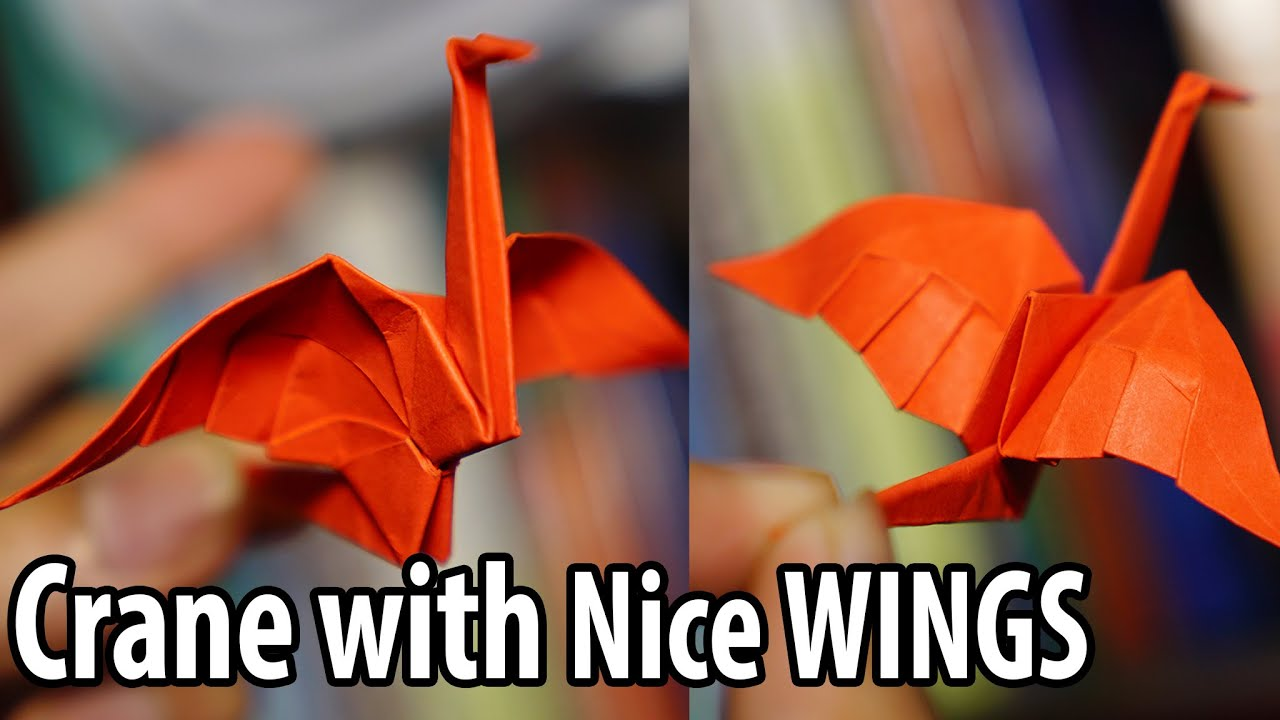Easy origami crane with nice wings tutorial diy henry phm easy origami crane with nice wings tutorial diy henry phm youtube jeuxipadfo Choice Image