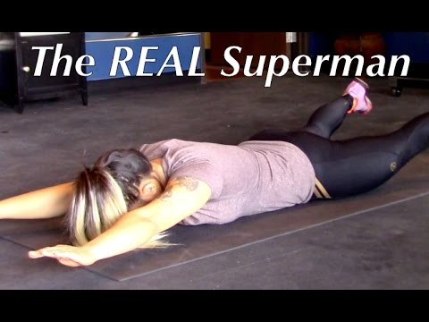 Superman Exercise - Low Back Pain Rehab - Huntington Beach Sports Chiropractor Doctor