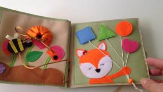 Quiet book, busy book, activity book, soft book, sensory toy for kids handmade