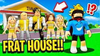 I Joined a FRAT HOUSE in Roblox BROOKHAVEN RP!! (Huge Secret)