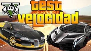 GTA V Online - TEST DE VELOCIDAD - ZENTORNO, ADDER, ENTITY- El Coche Mas Rapido