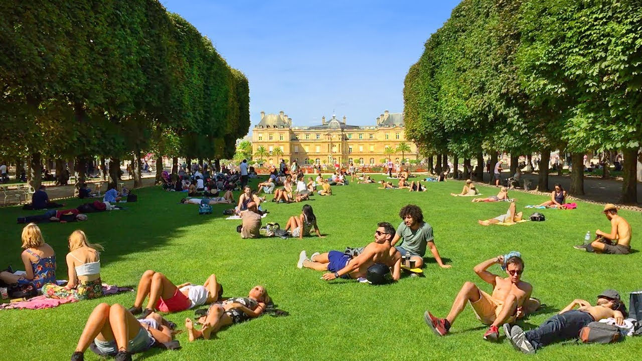 Paris Walk Luxembourg Gardens Magnificent Paris Park France
