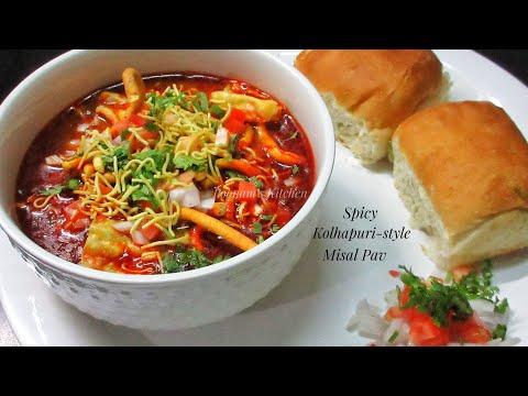 Spicy Kolhapuri Misal Pav Recipe - Famous Maharashtrain Dish Misal Pav