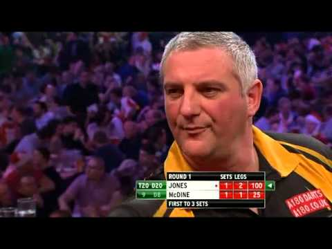 Wayne Jones vs Kevin McDine - PDC World Darts Championships 2014 First Round