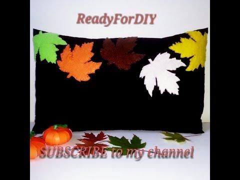 DIY Fall Decorative Pillow