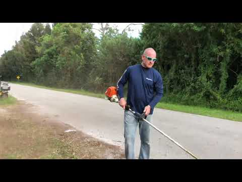 Trick to cut grass with string trimmer weed eater easier!!
