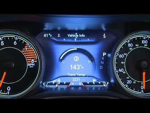 Instrument Cluster Display-The Digital Dashboard On The Car Instrument Panel Of 2019 Jeep Cherokee