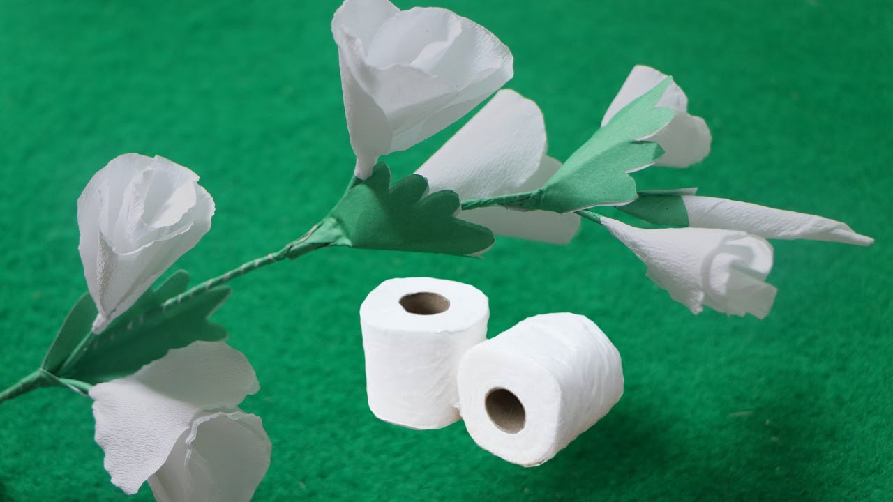 How to make butterfly white flowers from toilet tissue paper crepe how to make butterfly white flowers from toilet tissue paper crepe paper flowers mightylinksfo